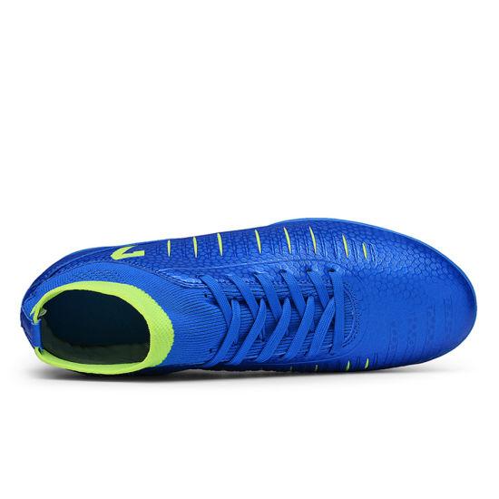 Men Football Boots High Top Soccer