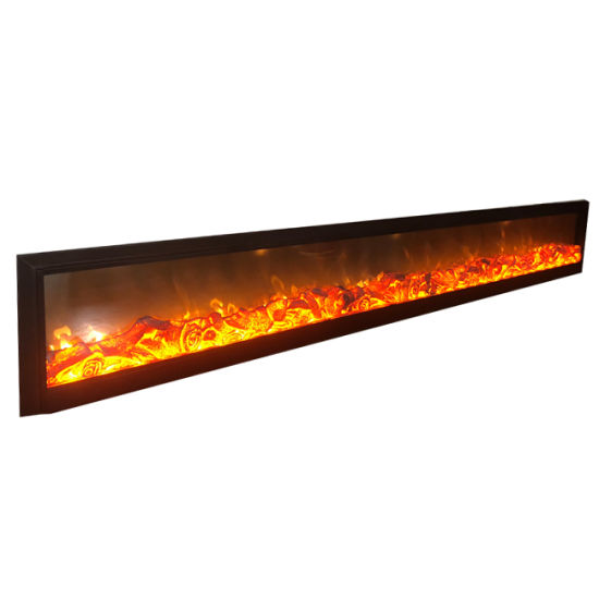 China Flat Led In Meter Electric Fireplace Heater Insert Fireplace