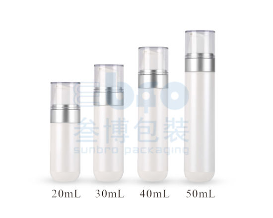 20ml/30ml/40ml/50ml Electroplating Plastic Cosmetic Packaging Airless Bottle.