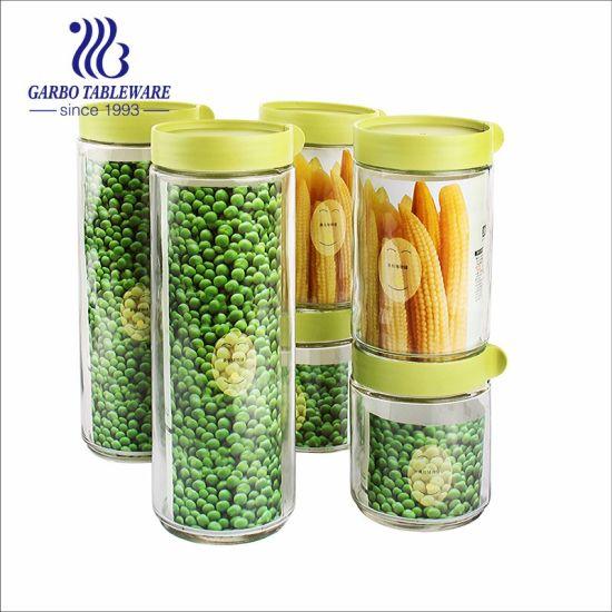 Stock Ready to Go Glass Storage Jar 6PCS Set for Supermarket (TZ6-GB2132-1)