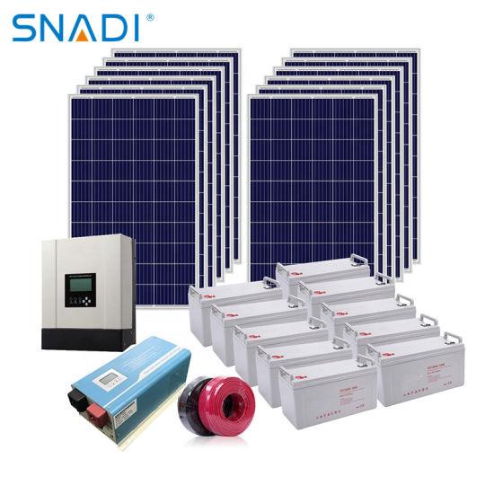 Home Use Pure Sine Wave 3kw 48V 110VAC 220VAC 50Hz off Grid Solar Power System