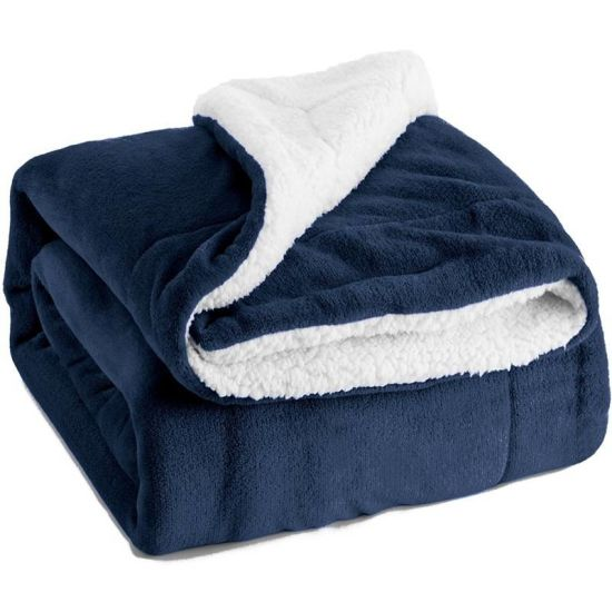 Cheap Promotion Double Layer Softness Fleece Sherpa Blanket