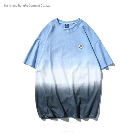 Shirt Change Colors Loose Trendy Half Sleeved Casual Short-Sleeved T-Shirt