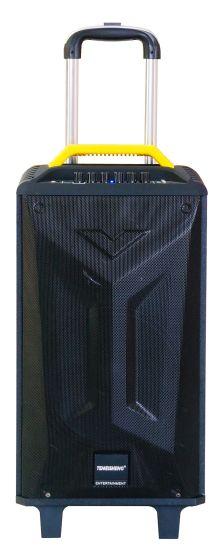 12 Inch Trolley Portable Wooden Bluetooth Party Karaoke Speaker