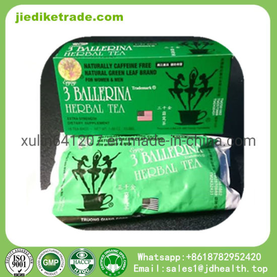 Wholesale Natural 3 Ballerina Herbal Tea Detox Slimming Tea