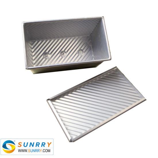Baking Tray Bakeware, Aluminium Non Stick Corrugated Toast Mold with Cover