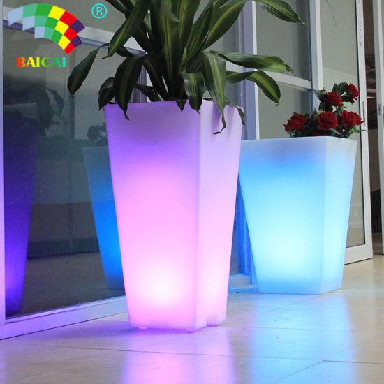 Illuminated Garden LED Flower Pot