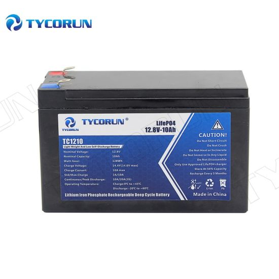 Tycorun Motorcycle Starter Rechargeable Lithium Battery Pack 12V 10ah