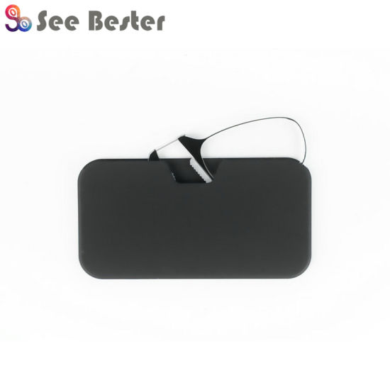 Thin Optics Pocket Glasses Without Arm, Resting Nose Clip Reading Glasses, Mobile Phone Tr90 Reading Glasses Reader with Updated Silicon Nosepad pictures & photos