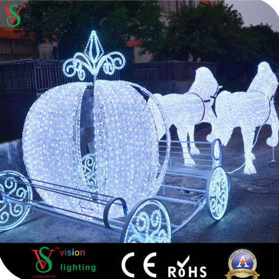 christmas large horse sculpture outdoor decoration light - Christmas Lighted Horse Carriage Outdoor Decoration