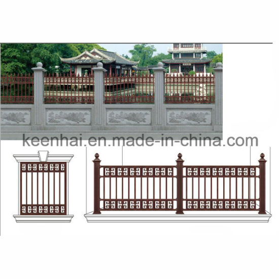 Villa Garden Decorative Power Coated Classic Design Metal Cast Aluminum  Garden Fence