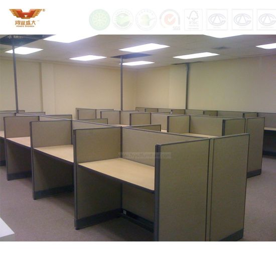 Modern High Quality Melamine Call Center Office Workstation Partition  Cubicles Office Furniture (HY 273)
