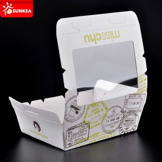 Custom Logo Printed Disposable Kraft Paper Lunch Food Box pictures & photos