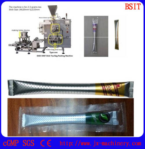 Hole Tea Forming Filling Sealing Packaging Machine for Stick Type Tea Bag pictures & photos