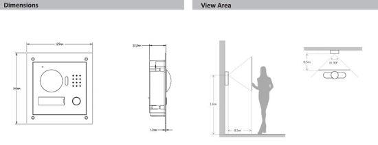 china dahua 2-wire access control ip villa outdoor station  vto2000a-2