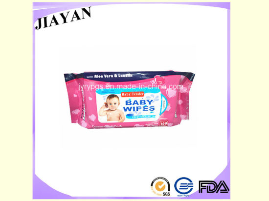 80PCS Baby Wipe Factory. Packing with Plastic Sticker Package (JY-0220)