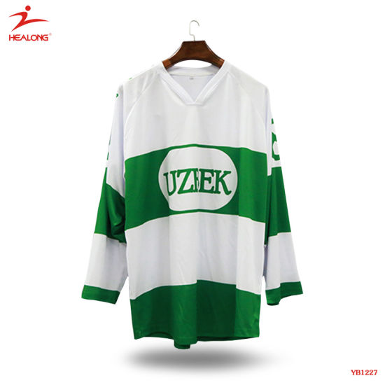 bdb13c49 Healong Full Sublimation Goalie Cut Ice Hockey Jerseys pictures & photos