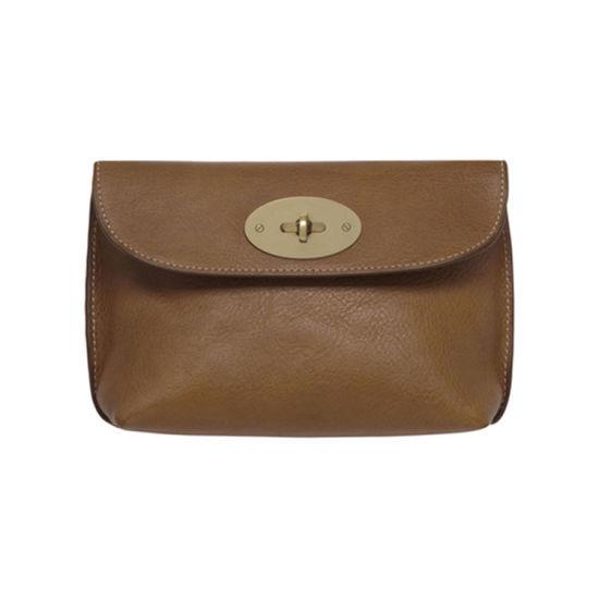 Big Brand Design Full Grain Leather Make up Bag Cosmetic Bag for Traveling