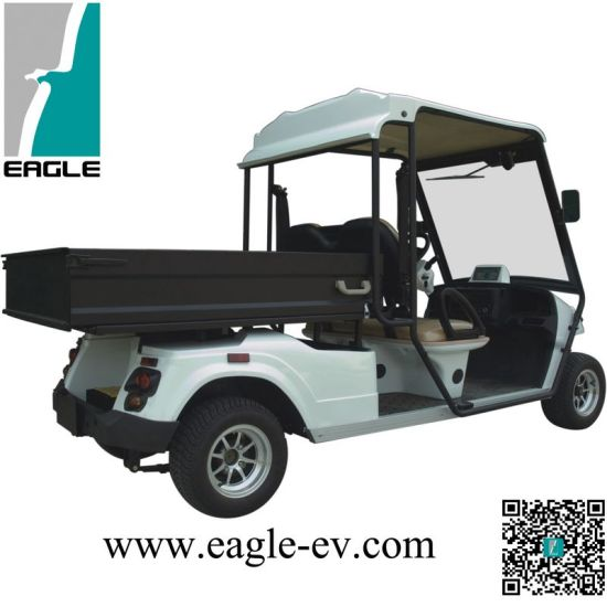 China L7e EEC Certified Utility Cart, 2 Seater with Cargo Box, Pure on