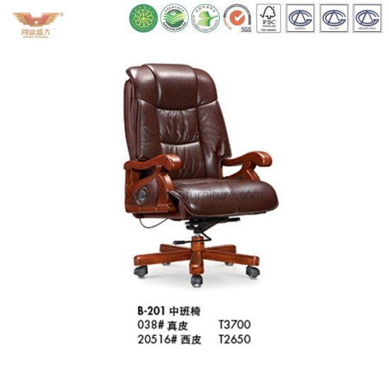 Pleasant Classical Comfortable Genuine Leather Office Executive Chair B 201 Download Free Architecture Designs Grimeyleaguecom