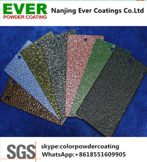 Black Silver Hammered Powder Coating with Free Sample pictures & photos