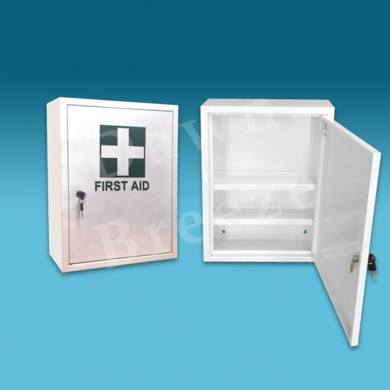 Wall Mounted First Aid Emergency Metal Cabinet with Lock