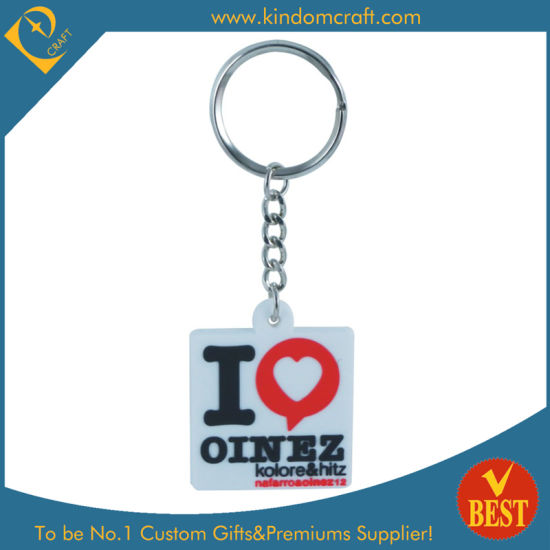 High Quality Hot Sale Customized Logo Cartoon Silicone Soft PVC Rubber Key Ring Keychain for Souvenir
