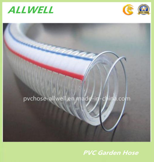PVC Plastic Steel Wire Reinforced Hose Water Hydraulic Pipe Industrial Discharge Hose pictures & photos