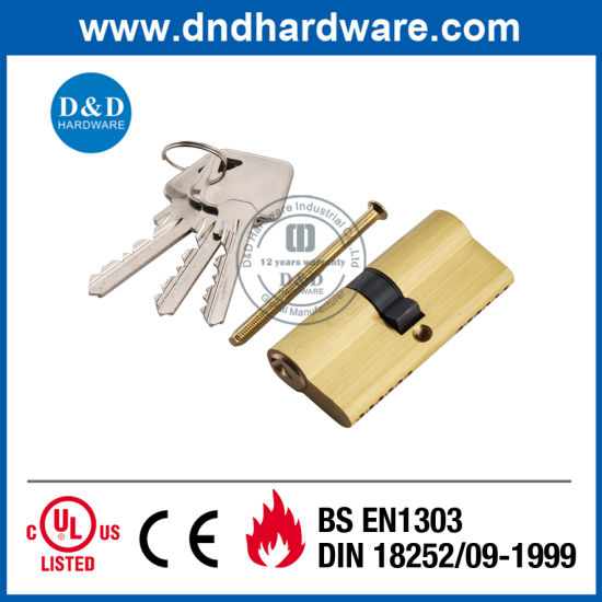 Golden Furniture Accessories Euro Profile Double Mortise Door Lock Cylinder