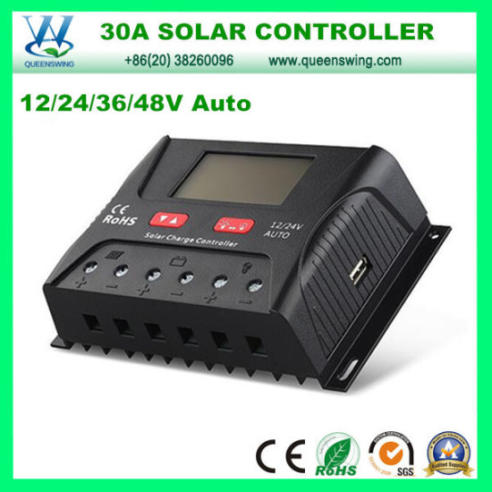 Chargers Accessories & Parts Solar Charge Controller 12v 24v 30a 50a Automatic Photovoltaic Solar Panel Battery Street Light Lcd Screen Display Pwm Charging