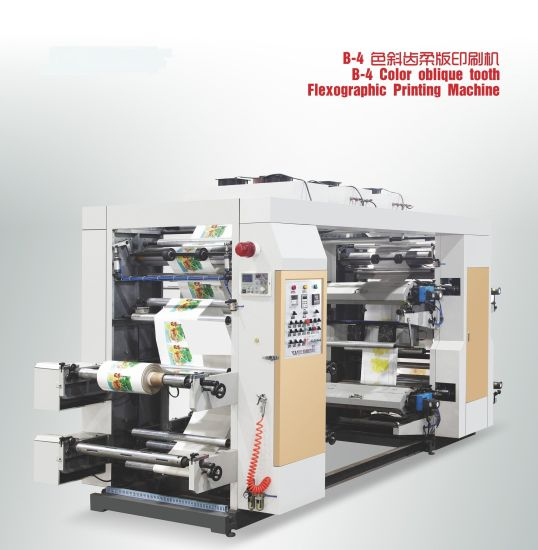Flexographic Printing Machine Flexo Machine 4 Color for Non Woven Fabric, Paper, Plastic Film