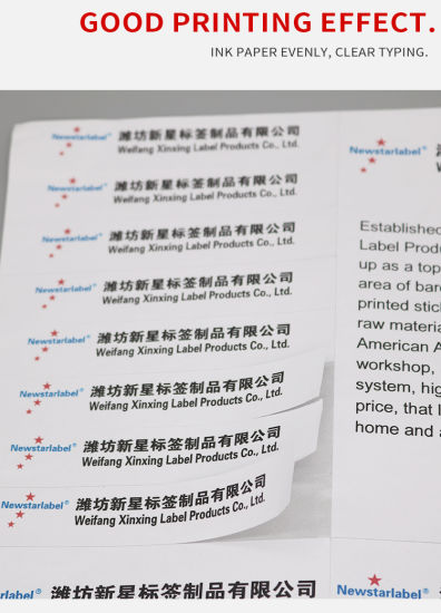 China A4 Paper Internet Shipping Stickers for Ebay Usps UPS