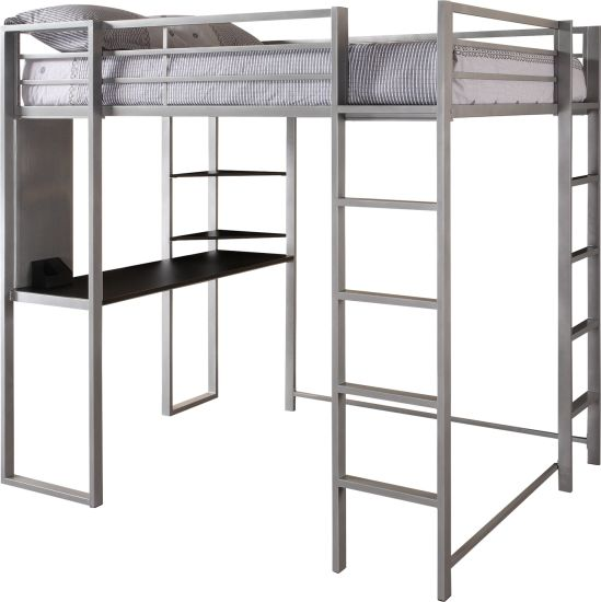 Full Size Loft Bed Metal Loft Bunk Bed With Wood Desk China Bunk Bed Loft Bed Made In China Com