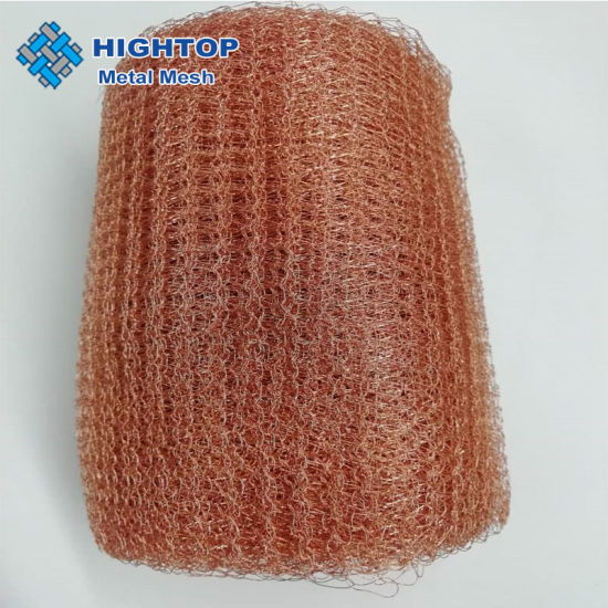 Pure Copper Knitted Wire Mesh Tube for Distillation Column Packing