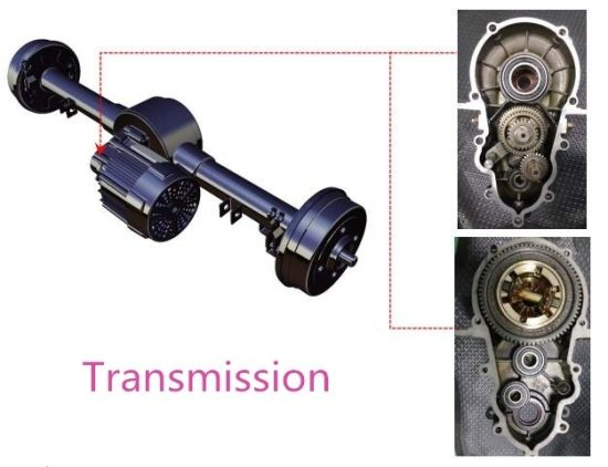 High Quality Electric Rickshaw Parts Pakistan Differential Rear Axle