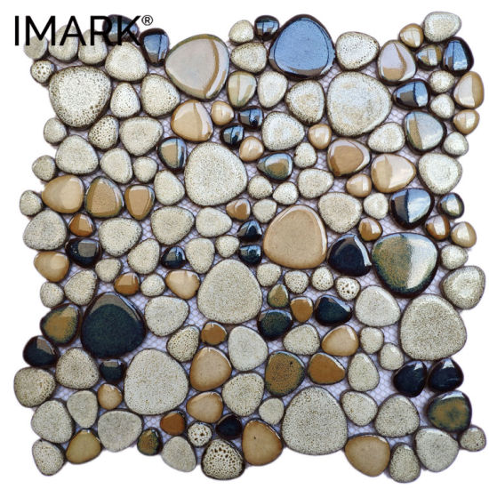 China Ceramic Flooring Pebble Tile For Bathroom Floor Wall Mosaic Decoration China Pebble Kitchen Backsplash Ceramic Mosaic Tile