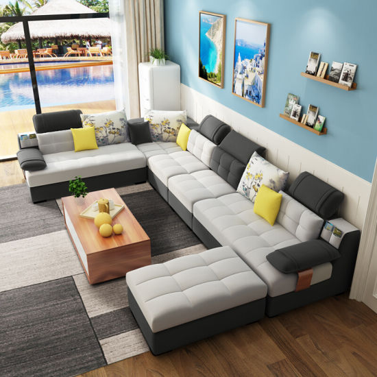 U Shape 7 Seater Sectional