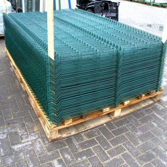 Green Color Painted Wire Mesh Steel Fencing pictures & photos