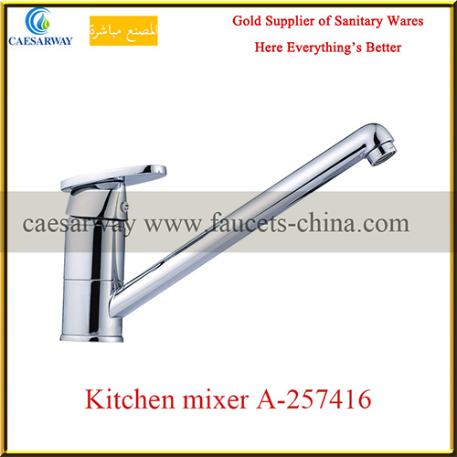 Chrome Plated Long Spout Water Kitchen Sink Faucet