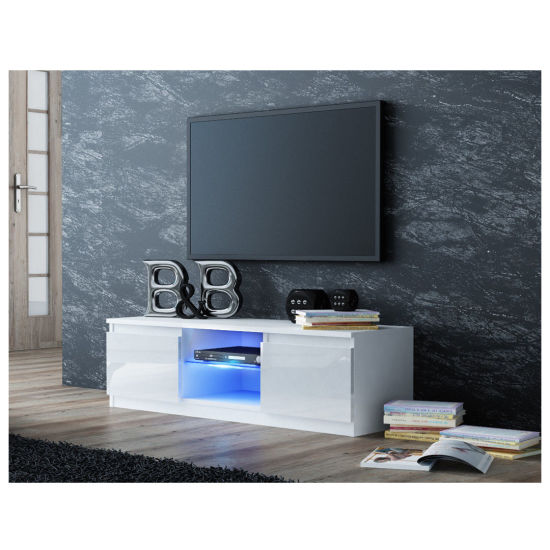China New Model Glass Tv Stand Wooden Furniture Tv Showcase China