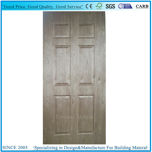 Natural Cherry Wood Veneer Laminate Plywood Door Skin pictures & photos