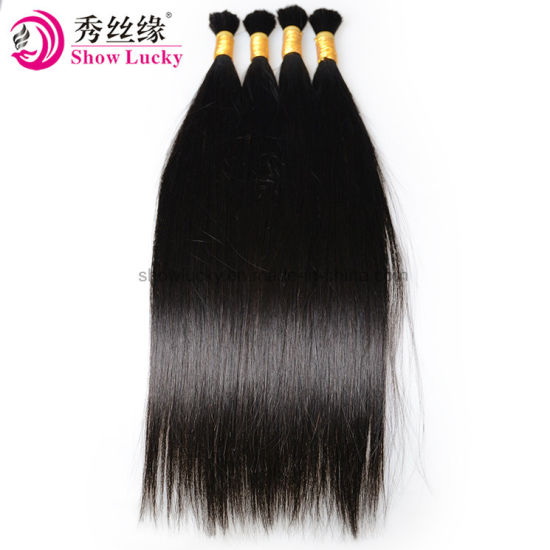 Unprocessed Long Life Virgin Silky Straight 100% Chinese Remy Human Hair Natural Bulk for Braiding pictures & photos