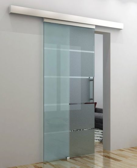 China Tempered Frosted Glass Sliding Door Glass Door Deisgn China