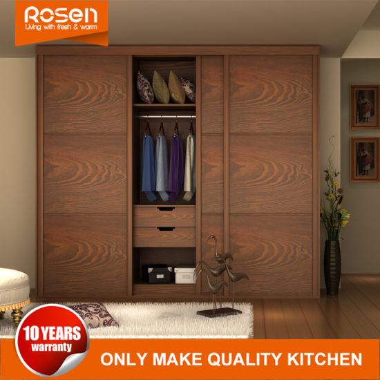 Wood Veneer Sliding Door Wardrobes Closets Designs Built In Bedroom