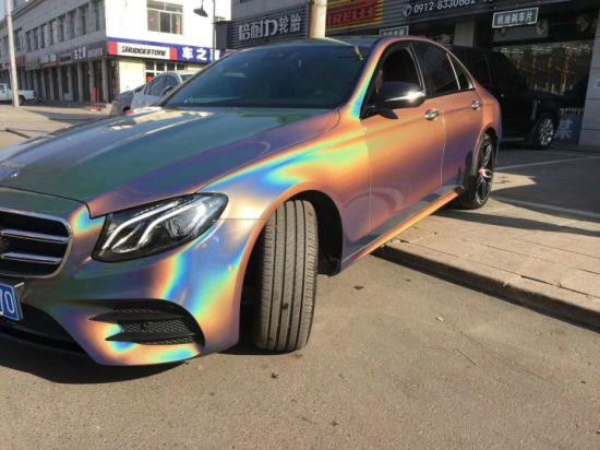 China Ts 1 52x18m Laser Chrome Car Vinyl Wrap Cost For Sale China