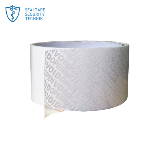 Tamper Evident Walmart Office Depot White out Warning Void Self-Adhesive  Security Tape for Bottle