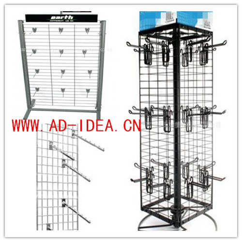 Wire Mesh Display Stand Replaced Hooks and Hangers