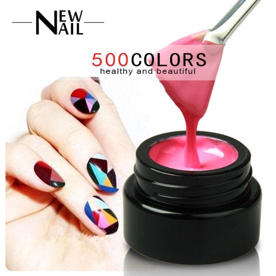 China 500 Color Coloured Nail Art Creative 3d Uv Sculpture Gel