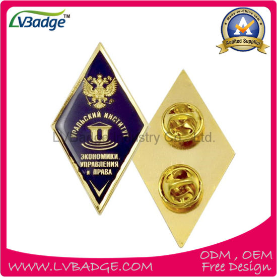 Promotional Metal Pin Badge with Gold Plating pictures & photos