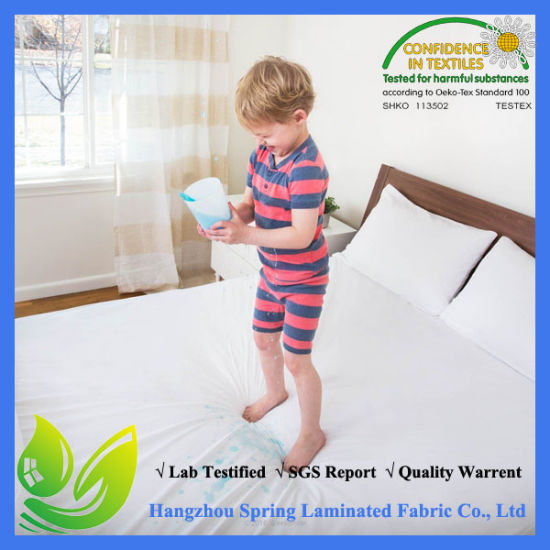 China Wholesale Hot Sale 100% 120GSM Bamboo Jersey Mattress Protector pictures & photos